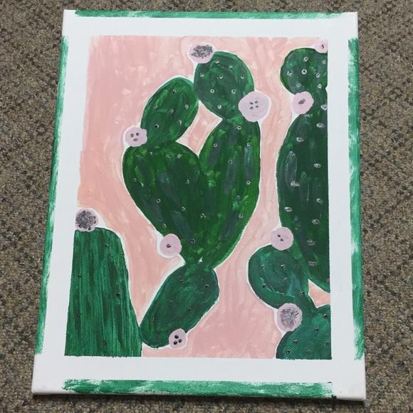 Hand painted Cactus Canvas Original Artwork